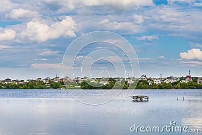 The village near the lake