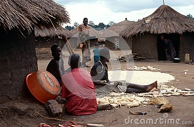 A village in northern Uganda. Editorial Photography