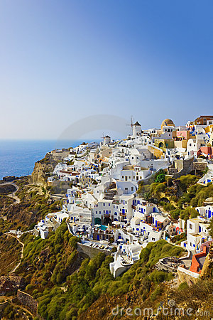 Village Oia at Santorini, Greece
