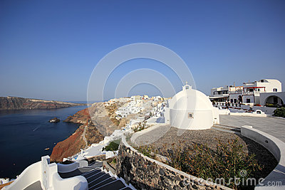 Village of Oia at Santorini island in the Cyclades