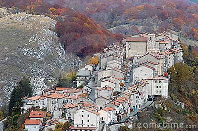 The village of Opi at Abruzzo National Park
