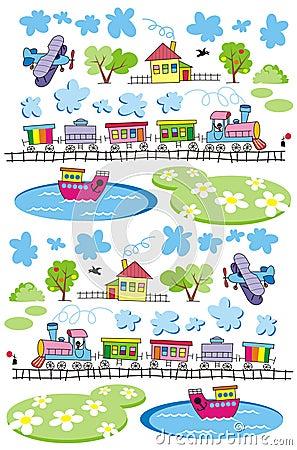 Free Village-pattern Stock Image - 16793321