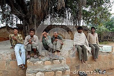Village People of  Khajuraho Editorial Stock Photo