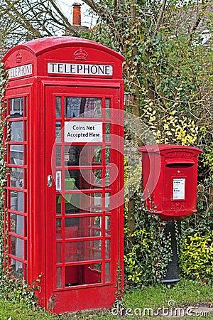 Village Phonebox & Postbox