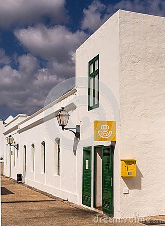 Village Post Office in Lanzarote, Canary Islands Editorial Photography