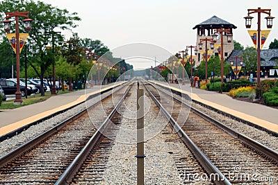 Village railroad tracks