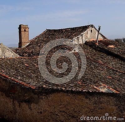 Village  rooftops