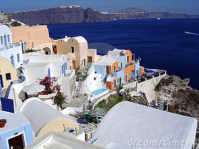 Village in Santorini, Greece