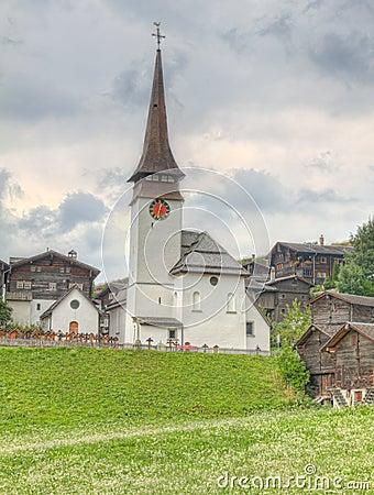 Village settlement in canton Valais