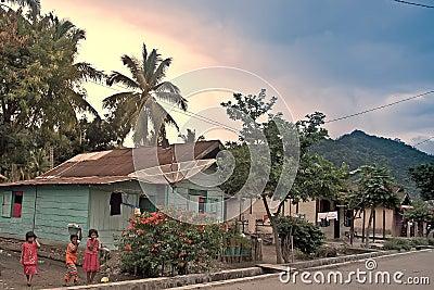village Sky Editorial Image