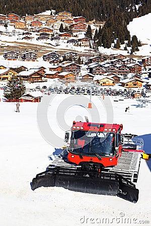 Village and snowplow