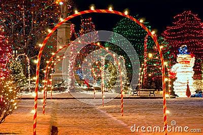 Village square Christmas