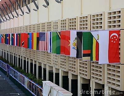 Village Square of Youth Olympic Village Singapore Editorial Stock Image