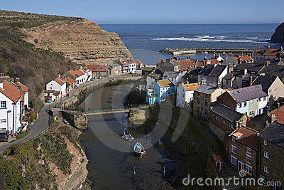 Village of Staiths - Yorkshire Coast - England Editorial Stock Photo