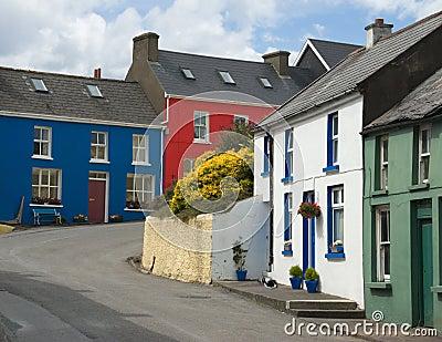 Village street in Eyeries, West Cork, Ireland