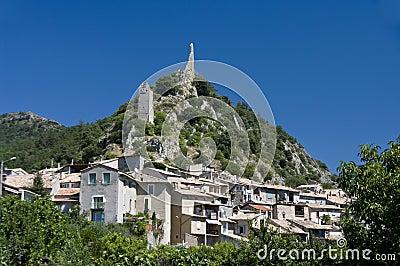 Village under hill