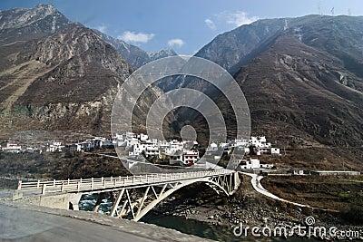 Village under mountain