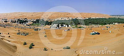 Village in the Wahiba Sands, Oman