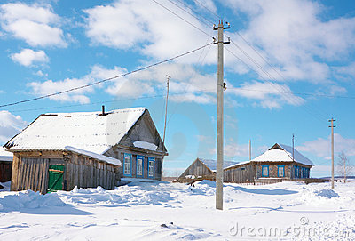 Village in wintertime