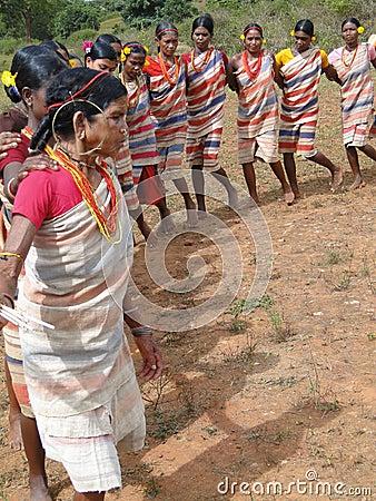 Village women form a circle Editorial Stock Photo