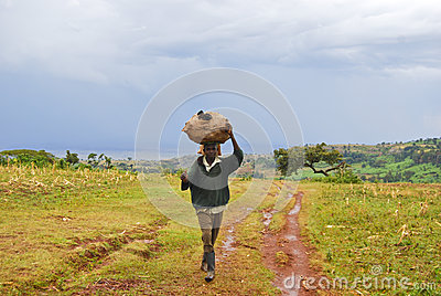 Village Work Editorial Stock Image
