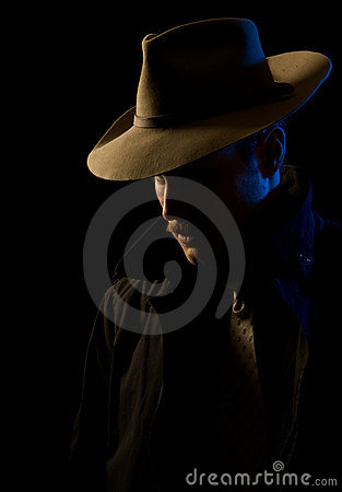 Free Villain - Chiaroscuro Film Noir Lighting Stock Images - 12682884