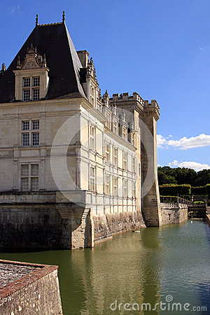 Villandry Castle and Moat