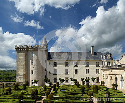 Villandry chateau, Loire Valley, France