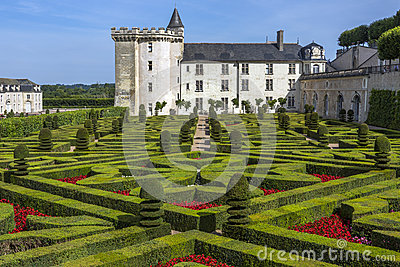 Villandry Chateau - Loire Valley - France Editorial Stock Photo