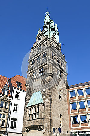 ville antique hall tower munster allemagne photo stock. Black Bedroom Furniture Sets. Home Design Ideas