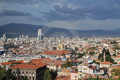 Ville d Izmir avant tempête