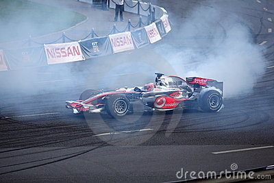 Ville de Moscou de la Bavière emballant 2010, Jenson Button Image stock éditorial