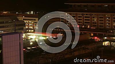 Ville Shenzhen Chine de nuit banque de vidéos