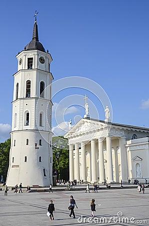 Free Vilnius Cathedral Royalty Free Stock Photos - 54973948