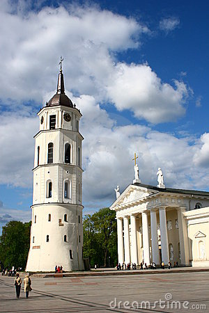Free Vilnius Cathedral In Lithuania Royalty Free Stock Photos - 5259988