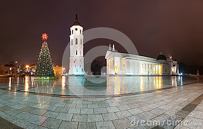 Vilnius cathedral. Lithuania, Europe.