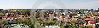 Vilnius city panoramic view with TV tower