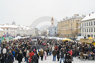VILNIUS- FEBRUARY 16 Editorial Photo