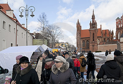 VILNIUS-MARCH 5 2011 Editorial Image