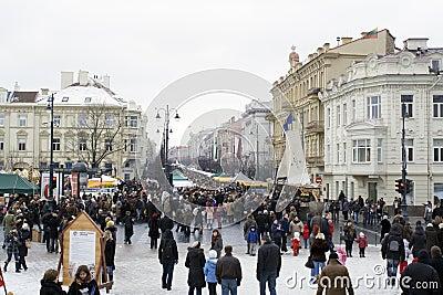 VILNIUS-MARCH 6: Vilnius, Kaziukas Editorial Stock Image