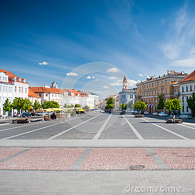 Vilnius Town Hall Square Editorial Photography