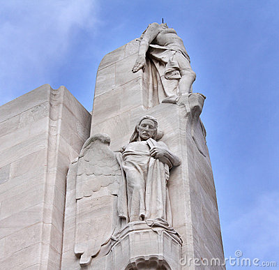 The Vimy Ridge Canadian War Memorial in France