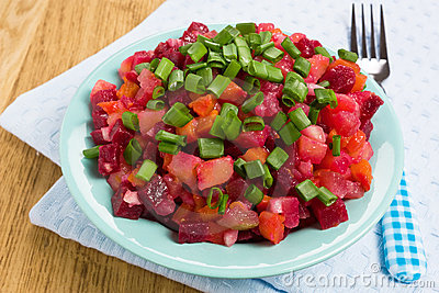 Vinaigrette Russian beetroot salad