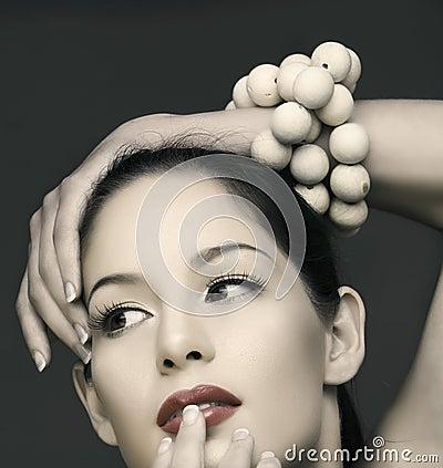 Free Vinatge Beautiful Woman Royalty Free Stock Image - 13457646