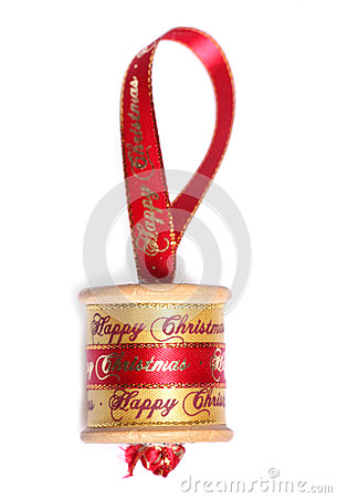 Vinatge cotton reel handmade christmas decoration