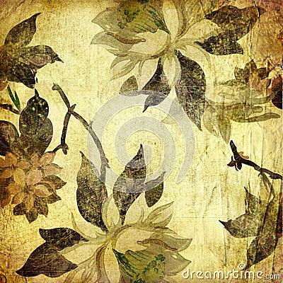 Vinatge floral paper