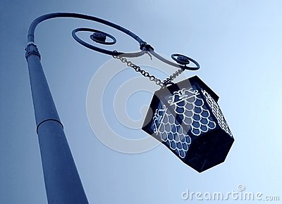 Vinatge street lamp, low angle view