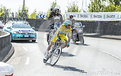 Vincenzo Nibali - The Winner of Tour de France 2014 Editorial Stock Photo