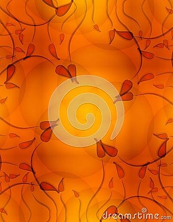 Vines Floral Background Gold