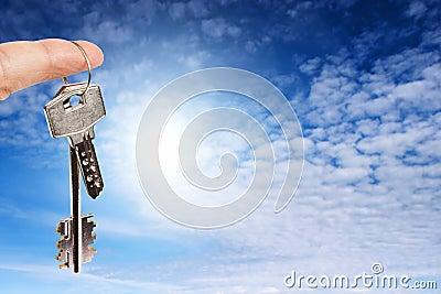 Vinger met sleutels